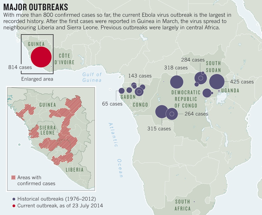 the key issues and recommendations for the ebola virus outbreak in africa 2016 epidemiological data management during an outbreak of ebola virus disease: key issues and observations from sierra leone front  2015 temporal and spatial analysis of the 2014–2015 ebola virus outbreak in west africa  2014 case definition recommendations for ebola or marburg virus.