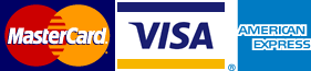 We accept Mastercard, Visa, American Express